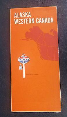 1968 Alaska Western Canada  road map American  oil   gas