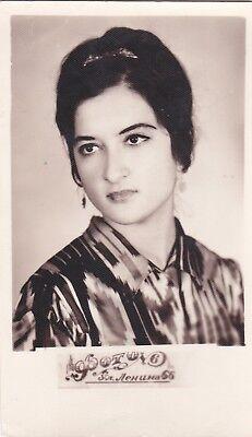 1972 RARE Beautiful young Uzbek woman girl Middle Asian old Russian Soviet photo (Beautiful Asian Girls)