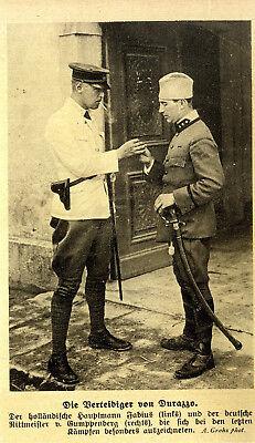 Die Verteidiger von Durazzo: Hauptmann Fabius & Rittmeister v.Gumppenberg c.1914