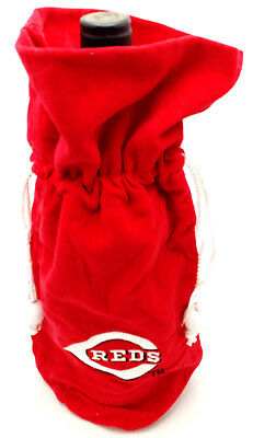 Cincinnati Reds Gift Bag for Wine/Liquor Bottle w/Embroidered Team Logo
