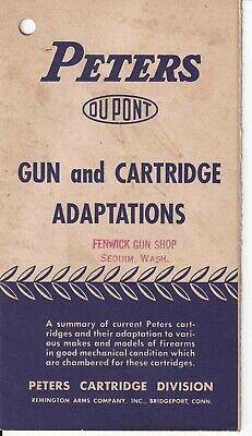 Peters Cartridge Remington Gun Adaptations Brochure Booklet