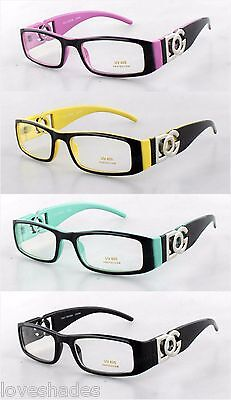 New BOG Clear Lens Rectangular Frames Glasses Designer Optical  Womens Nerd (Lense Frames Opticals)
