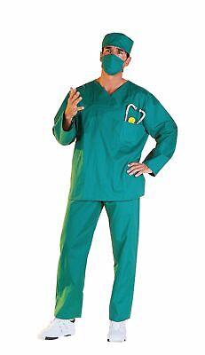Arztkostüm OP-Anzug Chirurg Arzt grün 4tlg. Herren Kostüm Karneval - Grün Arzt Kostüm