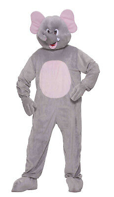 Adult Plush Ernie the Elephant Mascot Costume Full Body Animal Suit - Full Body Animal Costume