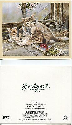 1 MAINE COON KITTENS CAT MAGNOLIA TREE PEAS RADISH SEEDS CARD 1 HERB BASIL PRINT