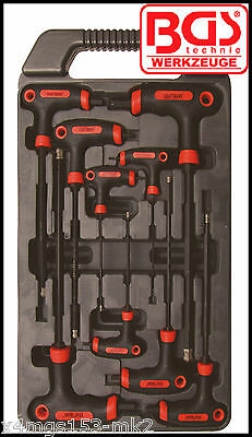 BGS - T Handle, Allen Key, Internal Hex 9 Pcs Set 2 - 10 mm - Pro Range - 7882