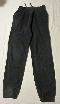 F & F navy JOGGING TROUSERS with waist ties 11-12 years - vgc - waist 24""