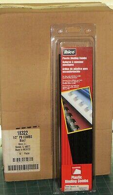 Ibico Plastic Binding Combs 12 25 Count 90 Sheet Capacity Black 10 Packs