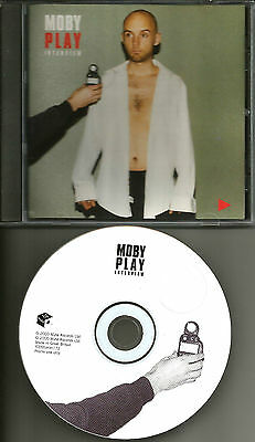 MOBY Play Ultra Rare INTERVIEW Made in EUROPE PROMO Radio DJ CD USA Seller MUTE