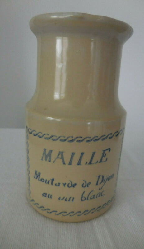 Vintage Maille dijon mustard stoneware jar/crock