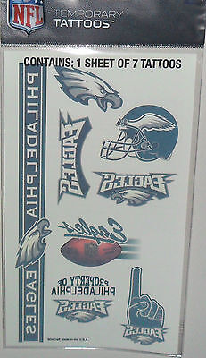 NFL PHILADELPHIA EAGLES TEMPORARY TATTOOS 1 SHEET 7 TATTOOS FAST FREE SHIPPING](Philadelphia Eagles Tattoos)