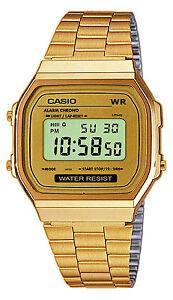 CASIO A158WG-1DF,Uhr,Gold,Illuminator,digital retro vintage,Casio Collection