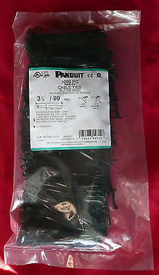 Panduit Plt1m-m300 Pan-ty Cable Tie Heat Stabilized Weather Resistant 1000