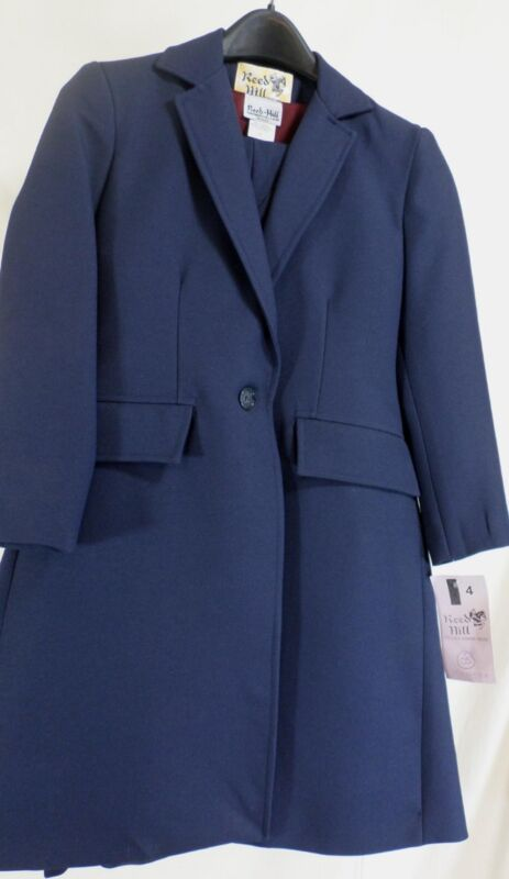 Reed Hill Saddleseat Childs 3pc suit Navy poly size 4 - USA