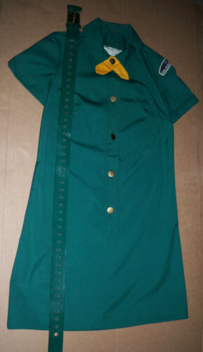 OLD GIRL SCOUT UNIFORM DRESS With BELT- PATCH 1960