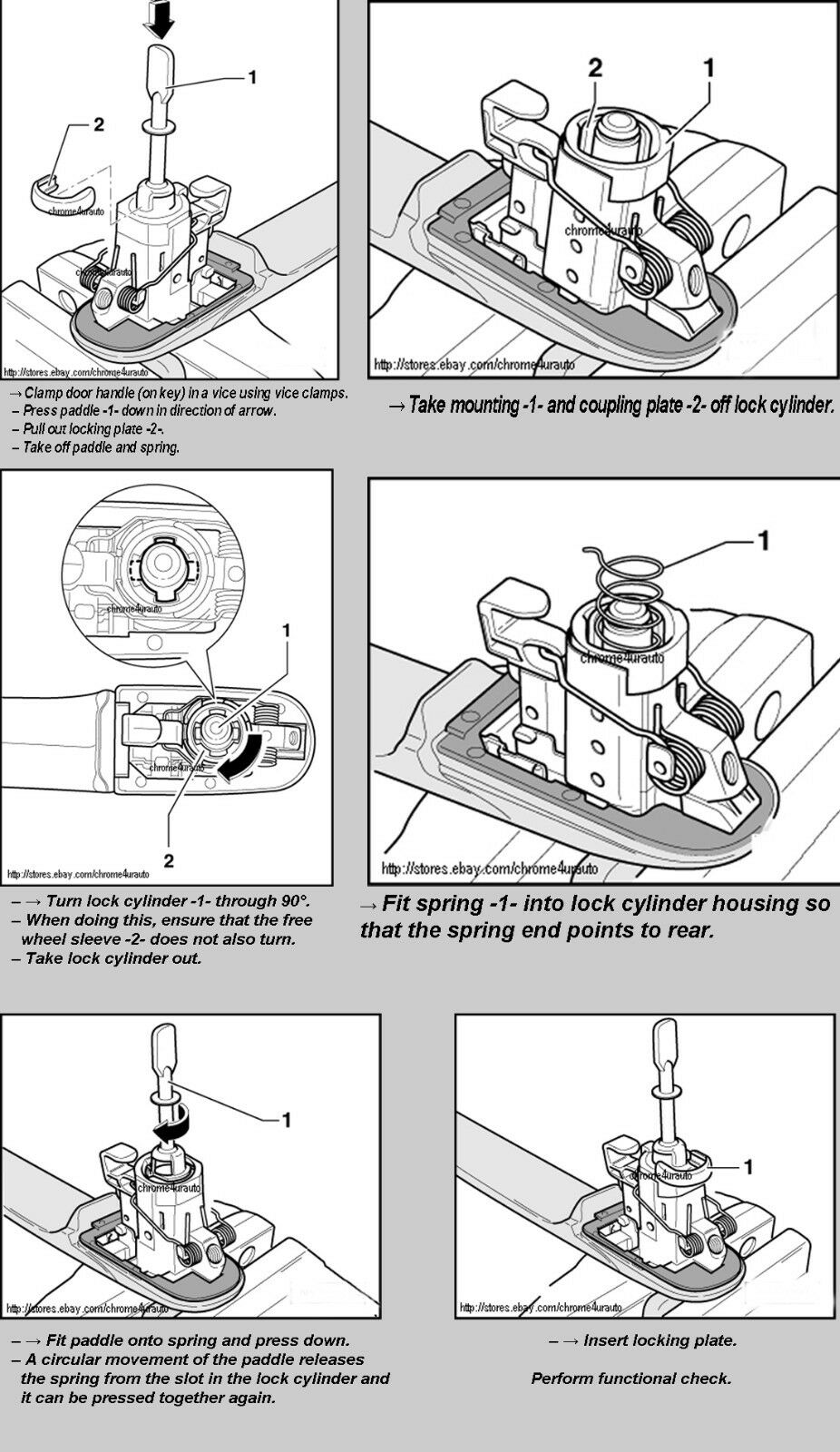 Volkswagen Vw Beetle Door Lock Cylinder Barrel Repair Kit Left Right 1998 Engine Diagram Brand New Highest Durable Quality Available Fast Shipping From Usa