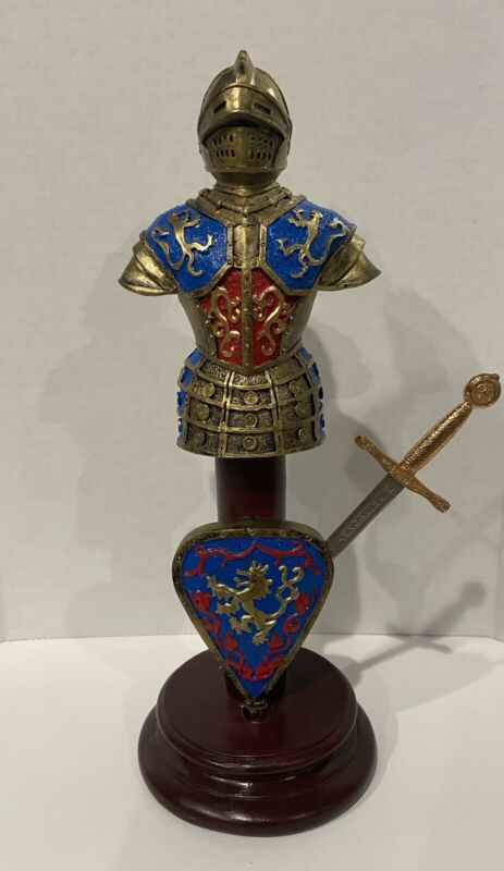 King Arthur Coat of Arms Excalibur Letter Opener Lion Armour Sword Knight Helm