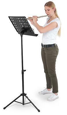 Notenständer Notenpult Orchesterpult Notenstativ Metall Lochblech Stabil Schwarz