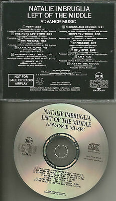 Natalie Imbruglia Left Of The Middle 1998 Usa Advnce Promo Dj Cd Mint Radv67634