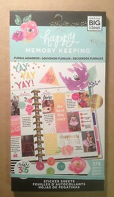 New  Me   My Big Ideas Create 365  Floral Memories  Value Pack Stickers