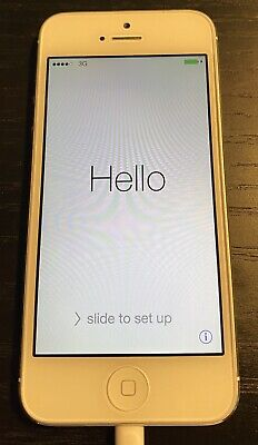 Apple iPhone 5 - 32GB - White & Silver (Verizon) A1429 (CDMA + GSM)