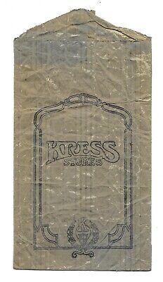 1930s Handbags and Purses Fashion Vintage 1930s KRESS DEPARTMENT STORES Retail Shopping Paper Bag FIVE & DIME  $59.99 AT vintagedancer.com