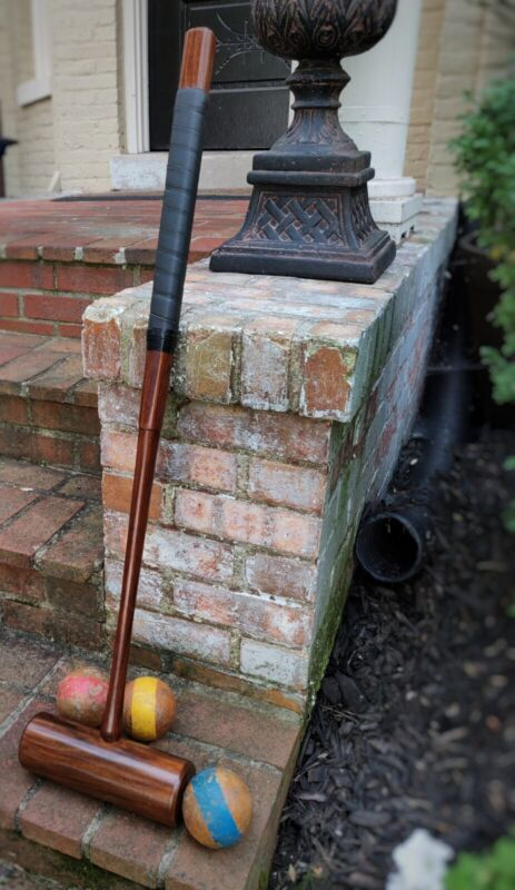 The Perfect Croquet Mallet, Handcrafted Indian Rosewood