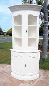 Beautiful White Wooden French Provincial Corner Cabinet/Hutch Rothwell Redcliffe Area Preview