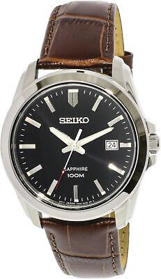 Seiko Men's Neo Classic SGEH49P2 Silver Calf Skin Japanese Quartz Dress Watch Mens Classic Dress Watch