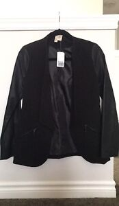 New Forever 21 woman's blazer with leather arms size s