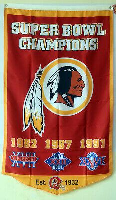 Washington Redskins super bowl champions flag 3X5FT banner US seller   ()