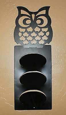 Owl Scarf/letter Rack Metal Wall Art