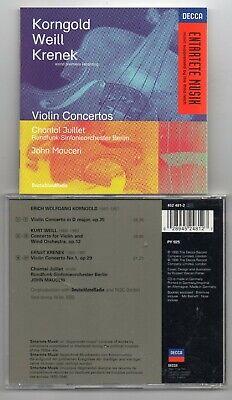 Korngold, Weill, Krenek - Violin Concertos - Chantal Juillet  (CD 1996)