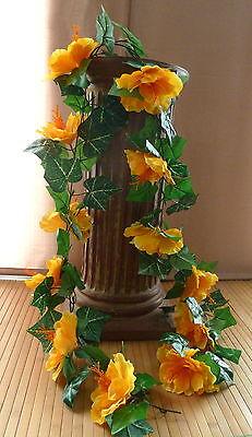 170 cm  Hibiskus Girlande  gelb (Hibiskus-girlande)