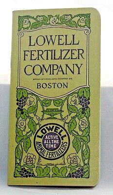 Lowell Fertilizer Company Boston 1928 Field Notebook