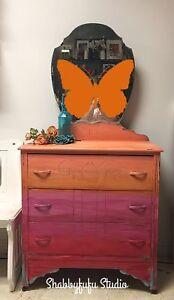 One of a Kind - Boho Ombré Dresser