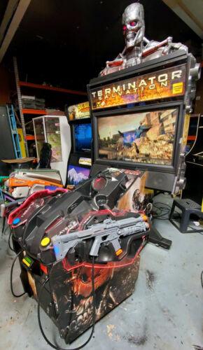 "Terminator Salvation DELUXE 42"" LCD Shooting Arcade Video Game Machine! WORKING!"