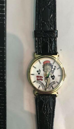 Betty Boop Music Dancer Wristwatch w/ Leather Strap