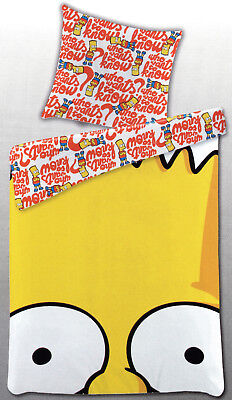 Bettwäsche The Simpsons - Bart Simpson Who wants to know? - 135 x 200cm Renforcé ()