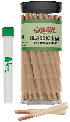 RAW Cones Classic 1 1/4 Size: 100 Pack - Pre Rolled Cones with Tips