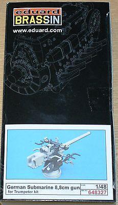 Deutsche 8,8cm U-Boot Kanone von Eduard in 1/48 (für Trumpeter)