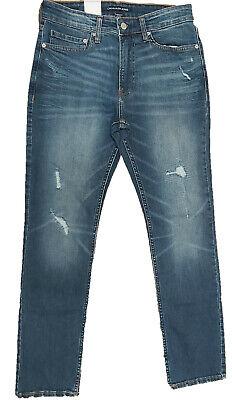 Calvin Klein Jeans Men's Slim fit Jeans, Houston Mid Blue Size 38X32