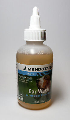 Mendota Pet Ear Wash with Tea Tree Oil for Dogs  4 fl. oz