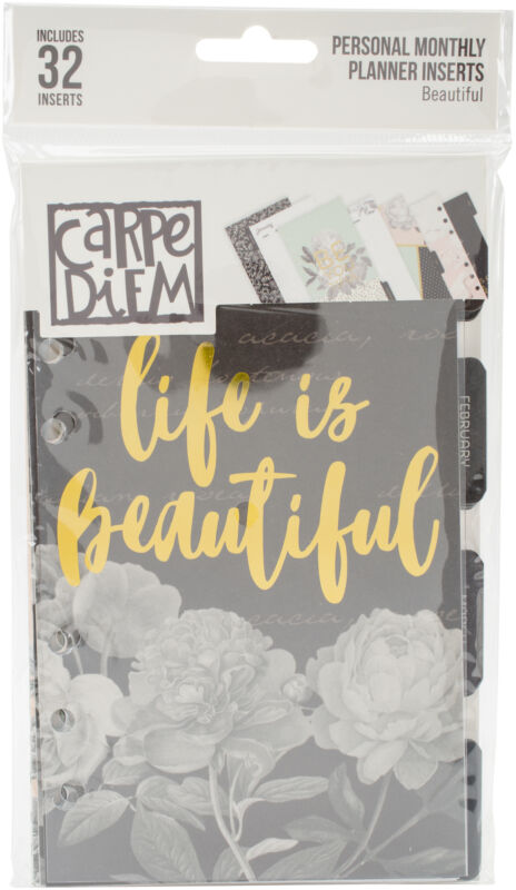 Simple Stories Carpe Diem Beautiful Double-Sided Personal Planner Inserts-Monthl