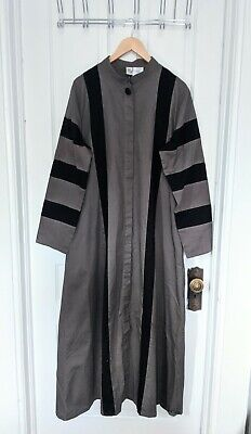 NWT East Essene Geometric Color block Maxi Aline Jacket coat dress Jibab Abaya