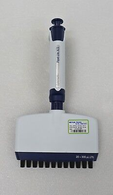 Rainin Pipet-lite Lts L-300 Xls Rfid 12 Multi-channel 20-300l Pipette Pipettor