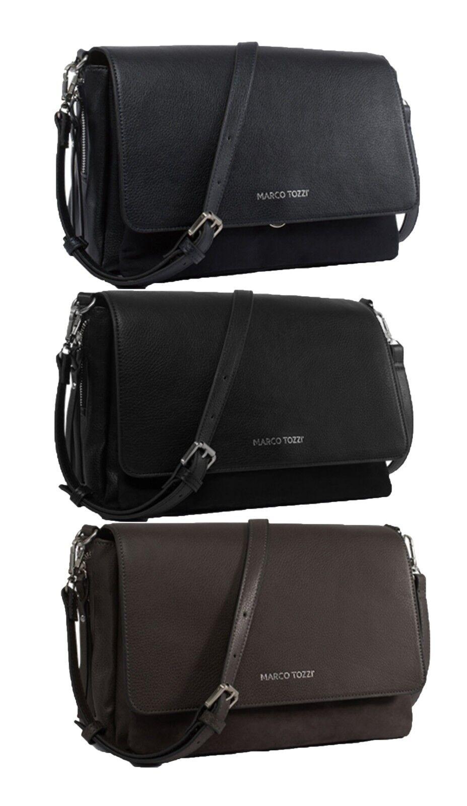 Marco Tozzi Handtasche Schultertasche Tasche schwarz braun grau 61110