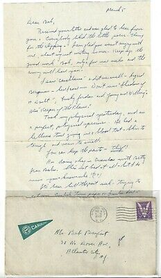 1943 WW 2 Era Chapel Hill, NC Phi Kappa Sigma UNC Letter Pennant on Cover