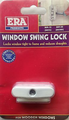 ERA WINDOW SWING LOCK WITH ONE KEY - WHITE FINISH - NEW