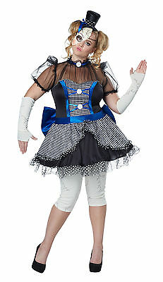 Twisted Creepy Broken Doll Haunted Adult Plus Size - Doll Adult Costume